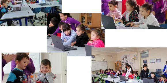 Hırçın Dalga, ilçemizdeki okul öncesi öğrencileri ile kodlama etkinliği yaptı.