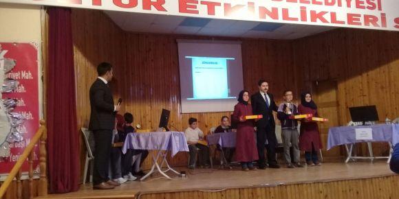 Haydi Bil Bakalım bilgi yarışmasında okulumuz ilçe 1. si oldu