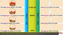 "Bu infografikte ""A lot of/ a few/a little/ few/ little/ some/ any"" konusu ele alınmıştır."