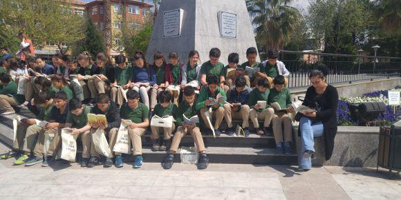 Milas Merkez Ortaokulu kütüphane etkinliğinde