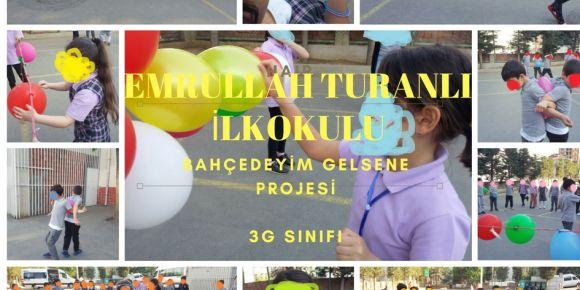 Bahçede balonla Türkçe dersindeyiz