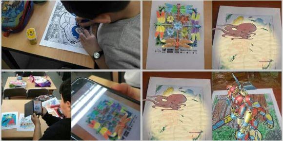 Çocukların gözünden dünya projemiz kapsamında quiver  uygulamasını yaptık