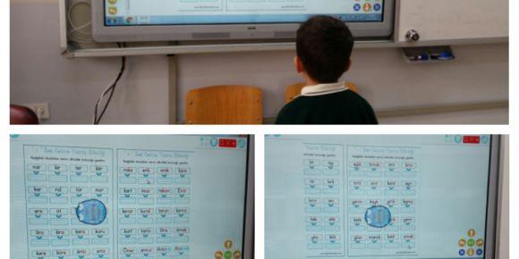 Hacıbey İlkokulu öğrencilerinin robotik kodlama ile okuma etkinlikleri