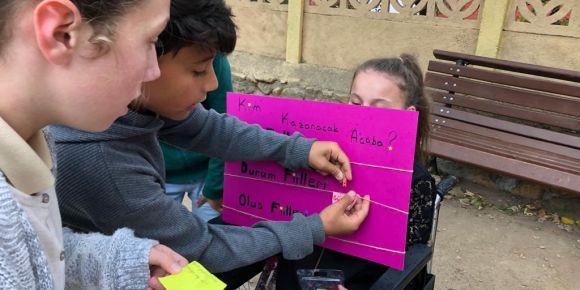 Türkçe dersi için öğrencilerimizden muhteşem etkinlik