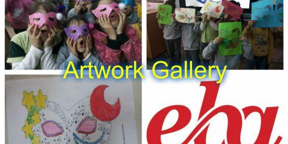 Artwork Gallery etwinning projesi şubat ayı çalışmaları