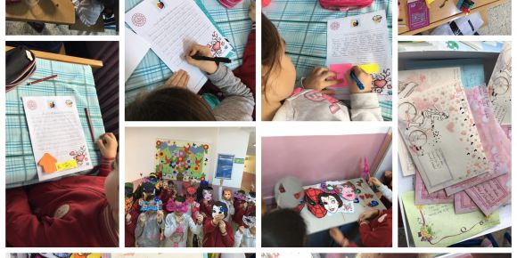 Resfebe çocukları mektuplaşıyor