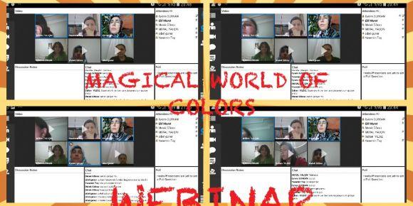 Magical world of colors  eTwinning proje ortakları webinar etkinliği