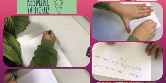 Mehmet Akif İlkokulu 3f Sınıfı eTwinning Resfebilmece projesi yapıyor