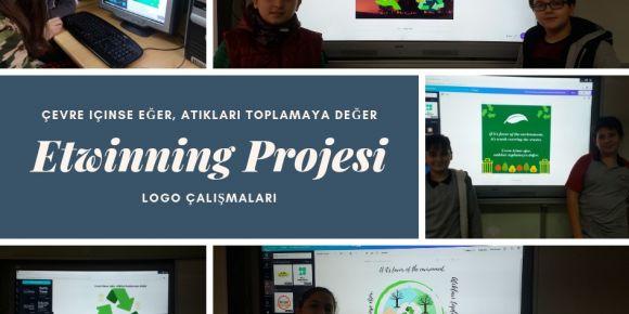 Etwinning projesi için logolar tasarlandı