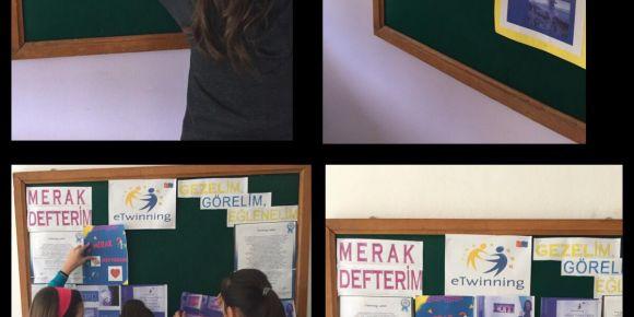 Merak Defterim isimli eTwinning projesi sona yaklaşıyor