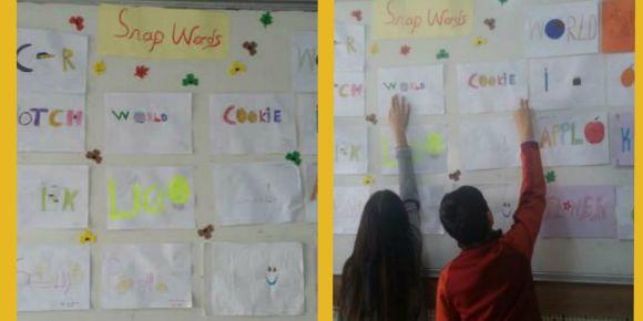 Didim Efeler Ortaokulu 7/E sınıfı öğrencileriyle snaps words