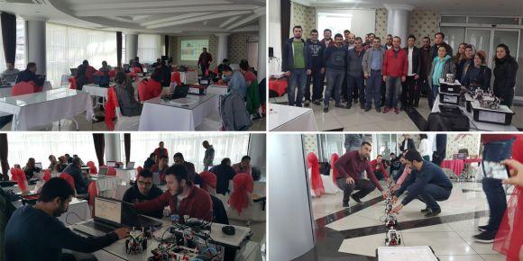 Kodla Rize projesi kapsamında koordinatör öğretmenlerimize lego robot eğitimi verildi