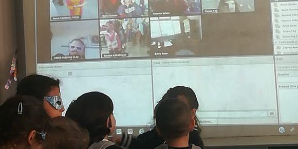 eTwinning proje ortağı öğrencilerle tanışma webinarı yapıldı