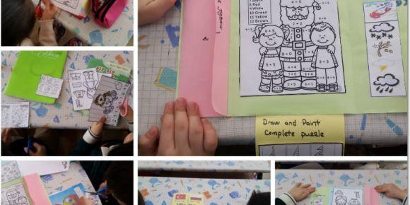 Öğrenciler tasarladıkları etkinlik kitabını Polonya'ya gönderdiler