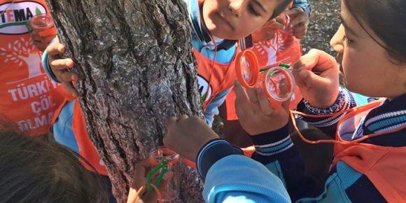 Bayramlı İlkokulu öğrencileri orman dedektifi oldu
