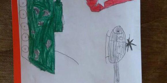 """""""15 Temmuz Darbe -Milletin Gücü"""" öğrenci resimleri"""