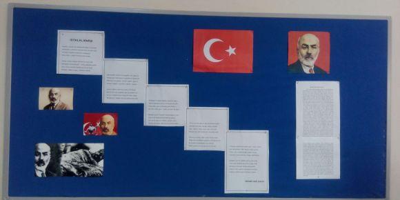 Didim Efeler Ortaokulu 6F sınıfından Mehmet Akif Ersoy anısına