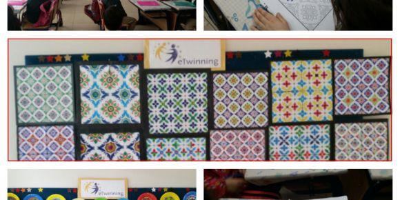 Şehit Erkan Kendirci  İlkokulu öğrencileri çini sanatı uygulamaları