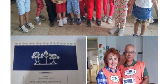 Urla Jale Necdet Özbelge İlkokulu 1.sınıf öğrencileri yavru tema gönüllüsü oldu
