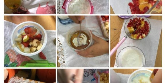 Öğrenciler meyveli yoğurt yapmayı öğrendiler