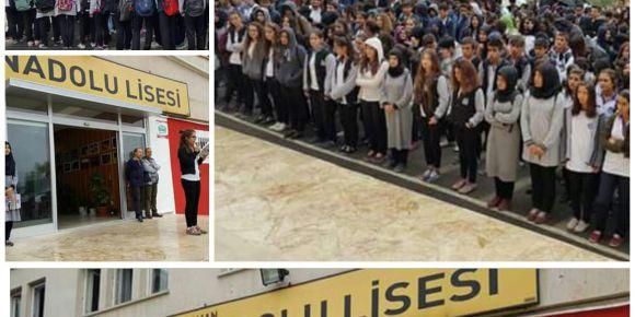 Adıyaman Anadolu Lisesinde 29 Ekim töreni yapıldı