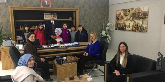 İlçe Milli Eğitim Müdürü Mehmet Ali KATİPOĞLU'na proje tanıtımı yapıldı