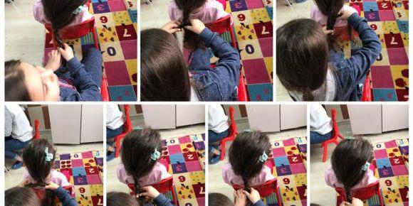 Saç örmeyi öğrendik, becerimize beceri ekledik