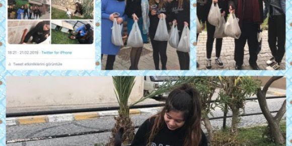 Sokak hayvanları öğrencilerin ilgi ve sevgisi ile hayata gülümsüyor