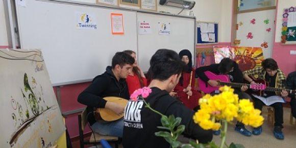 ''Drawing The Music Uluslararası e Twinning Projesi'' ni okulumuz da tanıttık