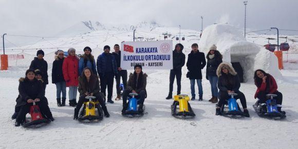 Okul spor etkinlikleri kapsamında Erciyes Dağı'na gezi düzenledi