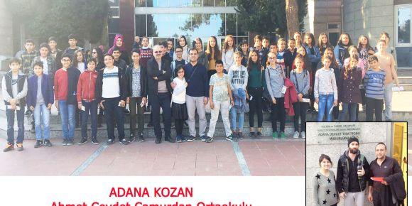 Kozan Ahmet Cevdet Ortaokulu Fareler ve İnsanlar Oyununu İzledi
