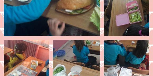 Sağlıklı sandviç hazırlamayı öğreniyorum