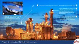 Enerji kaynaklarından doğalgaz tanıtılmıştır.