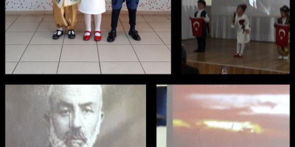 İstiklal Marşımızı güzel okuma yarışması ilçe birincisi olduk