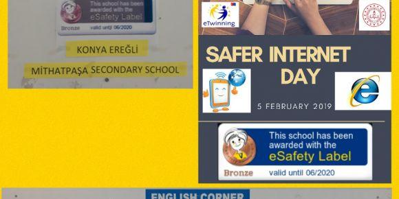 Güvenli internet günü etkinliklerimiz
