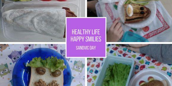 Öğrenciler okulda sağlıklı sandviç yapmayı öğrendiler