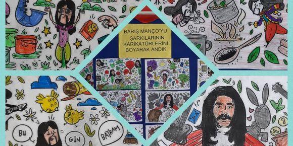 Şarkılarının karikatürleri ile Barış Manço