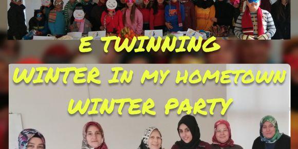 """E twinning projesi kapsamındaki """"Kış Partisi"""" etkinliğimiz"""
