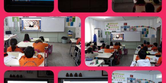 Cahit Zarifoğlu İlkokulu 2/D Sınıfı Pentago oyununu tanıyor