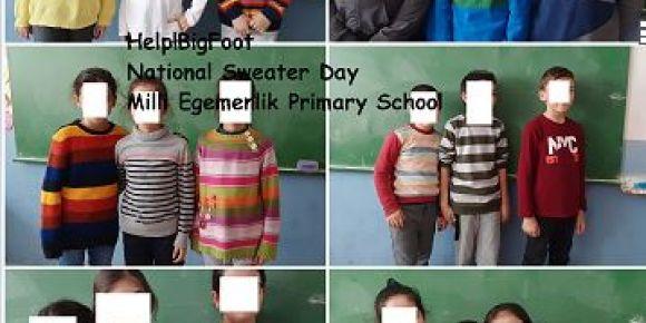 Manavgat Milli Egemenlik İlkokulu 4-B sınıfı öğrencileri National Sweater Day i kutladılar