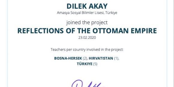 Reflections of the Ottoman Empire eTwinning Projesi
