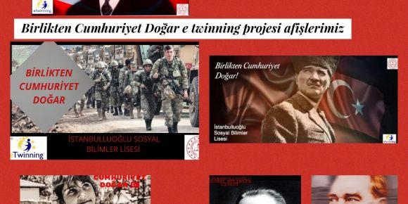 Birlikten Cumhuriyet Doğar, e Twinning projesinde afiş çalışmaları başladı