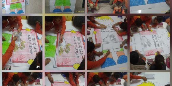 """""""Boyayalım Öğrenelim"""" eTwinning projemizde yerli malı haftasını kutladık"""