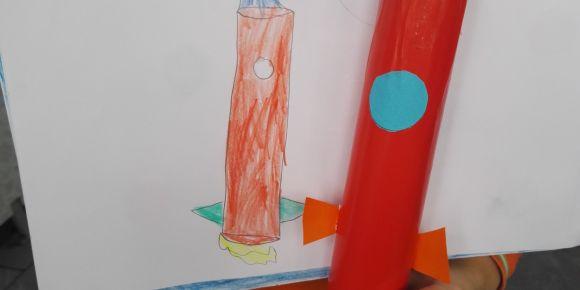Stem Kulübünden Stem Okuluna eTwinning projesi kapsamında roket yaptık