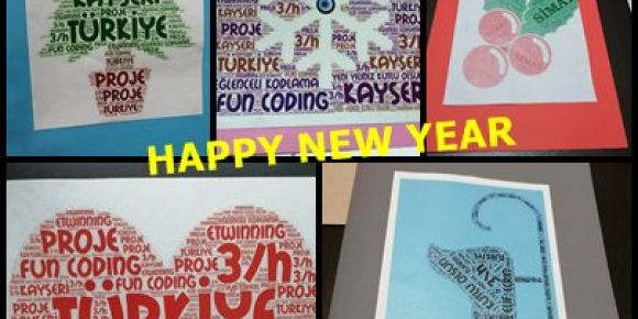Projemizin ortaklarına yeni yıl kartları hazırladık