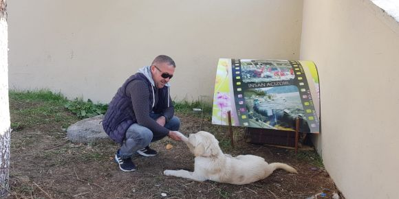 Okulumuzun köpeği Pardus yuvasında çok mutlu