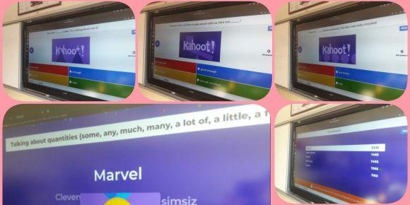 Kahoot web 2.0 aracı ile hem yarıştık hem de çok eğlendik