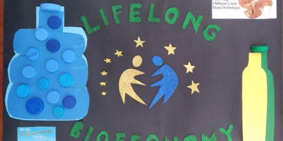 """""""Lifelong Bioeconmy"""" eTwinning  projesi kapsamında  kapak ve atık yağ toplama kampanyası"""