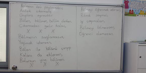 Bölme işlemi için şiir yazıp besteledik