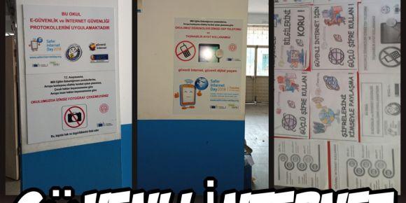 Güvenli  internet afişleri